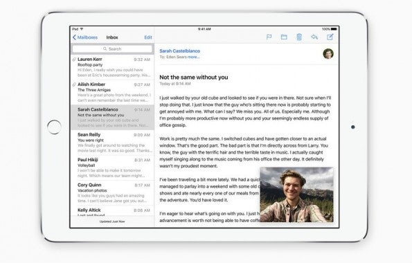Auf dem iPad lassen sich Videos in einem kleinen Fenster betrachten. (Screenshot: Apple)