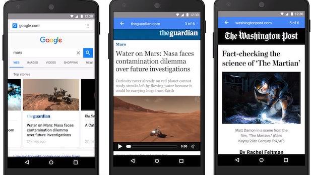 """Accelerated Mobile Pages"": Google startet Pilotphase für seine ""Instant Articles""-Alternative"