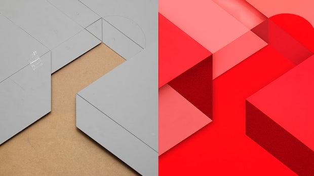 Material Design in Handarbeit: Google zeigt, wie aufwändig die Herstellung der Marshmallow-Wallpaper ist