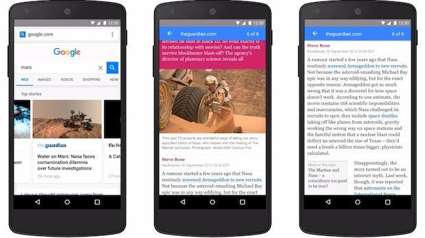 Vor dem Launch von Instant Articles: Google startet seine Accelerated Mobile Pages am 24. Februar