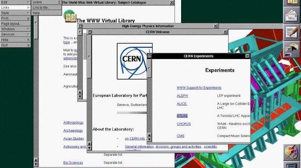 25 Jahre World Wide Web: So sah die erste Webseite der Welt aus