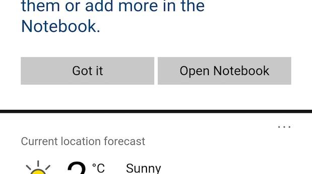 Cortana für Android (Screenshot: t3n)