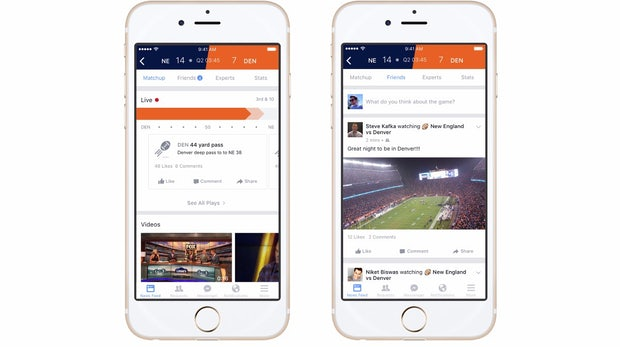 Sport auf Facebook: Neues Feature bringt euch an den Spielfeldrand