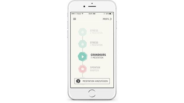 Die Meditations-App 7Mind.