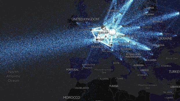 Diese interaktive Karte zeigt, wie wichtig das Tor-Netzwerk inzwischen für Deutsche ist
