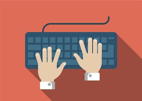 Wer mit 10 Fingern schreibt, ist nicht schneller