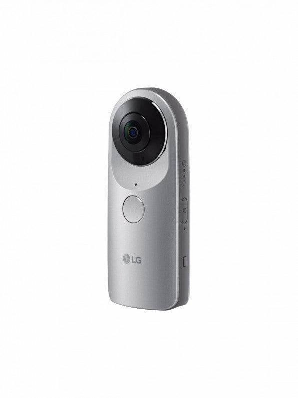 Die LG 360 CAM ist eine kompakte 360-Grad-Kamera. Sie ist mit zwei 13 Megapixel-Weitwinkelkameras, einem 1.200-Milliamperestunde-Akku und 4 Gigabyte internem Speicher ausgestattet. (Bild: LG)