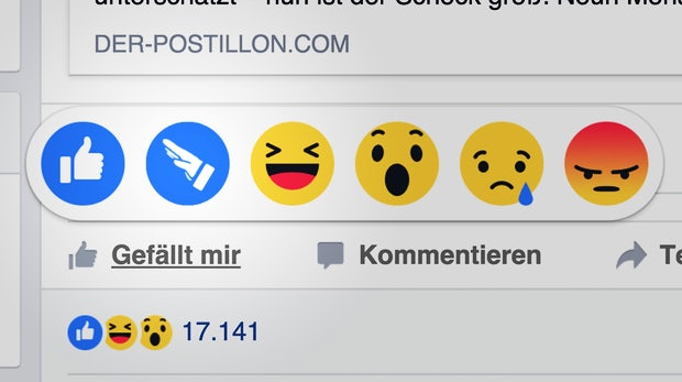 Von Trauer keine Spur: So witzig reagiert das Web auf die Facebook-Reactions