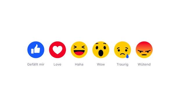 Facebook-Daumen bekommt neue Freunde: Reactions sind ab sofort weltweit verfügbar