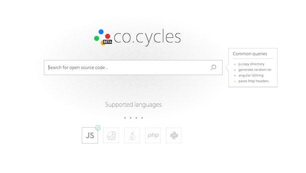 co.cycles: Die Suchmaschine für Entwickler