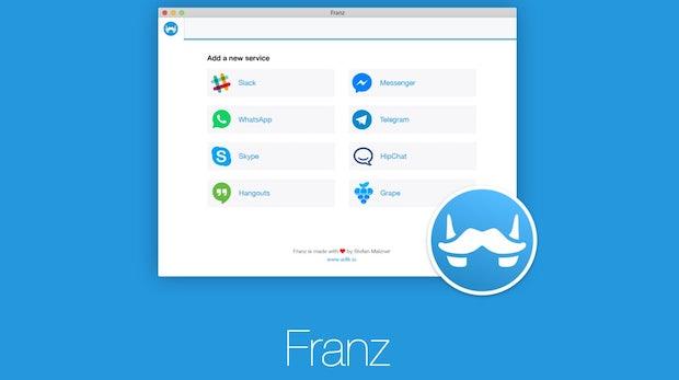 Franz: Messenger vereint Whatsapp, Facebook, Skype, Slack und Co. in einem Tool [Update: Tweetdeck und mehr]