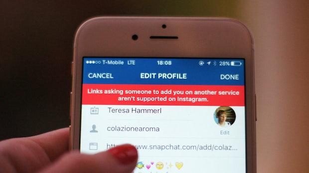 t3n-Daily-Kickoff: Instagram sperrt Telegram- und Snapchat-Links