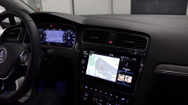 e-Golf Touch Infotainment-System. (Foto: t3n)