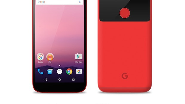 "Mockup: So könnte das Google Pixel/Nexus in Rot aussehen. (Bild: <a href=""https://www.reddit.com/r/Android/comments/4rtv23/leaked_nexus_in_four_colors/"">reddit</a>)"