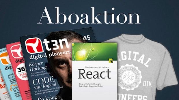 """Sichere dir das Fachbuch """"React"""" gratis zum t3n-Abo!"""