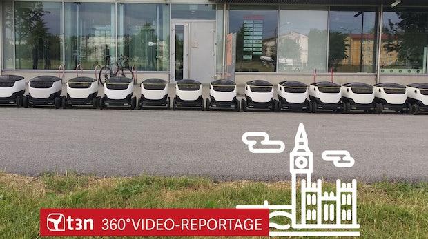 t3n-360-Grad-Reportage: Dieser Roboter bringt Pakete bis zur Haustür