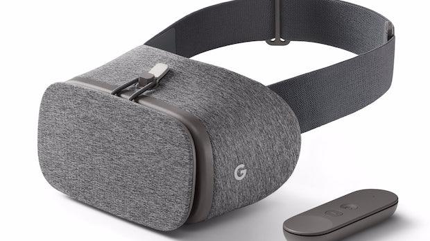 In Deutschland bislang nur in Grau erhältlich: die Daydream View mitsamt Remote. (Bild: Google)