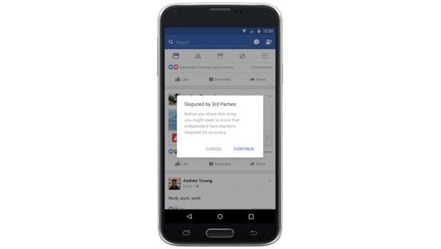 """Fake News: So kennzeichnet Facebook """"umstrittene"""" Meldungen. (Bild: Facebook)"""