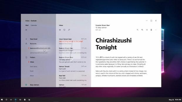 Der Screenshot der Outlook-App zeigt ebenso, dass Project Neon mehr Transparenz bringen wird.  (Bild: Mspoweruser)