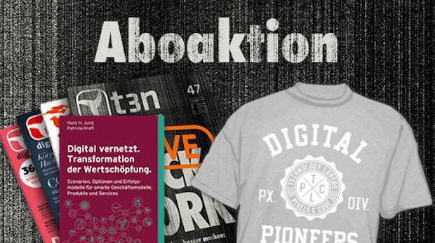"""t3n-Abo inklusive """"Digital vernetzt – Transformation der Wertschöpfung"""""""