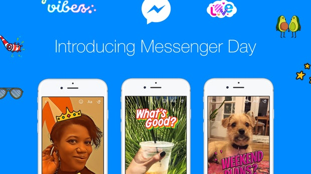"""Weitere Snapchat-Kopie: Facebook startet """"Messenger Day"""""""