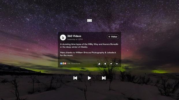 Facebook veröffentlicht eigene VR-App
