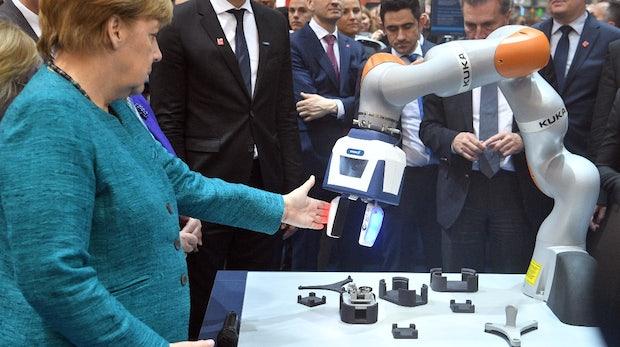 Hannover Messe: Roboter machen ein freundliches Gesicht