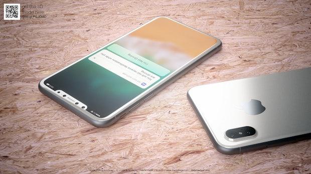 """So könnte das iPhone 8 in Weiß aussehen. (Renderbild: <a href=""""http://www.martinhajek.com/iphone-8-leak-in-white/"""">Martin Hajek</a>)"""