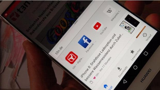 Chrome für Android. (Foto: t3n)