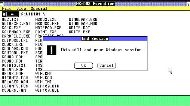 Windows 1.0 erschien im Jahr 1985. (Screenshot: t3n)